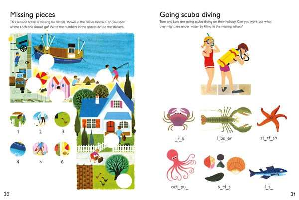 Alain Gree Holiday Activity Book spread